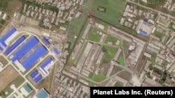 一张显示朝鲜导弹制造设施的卫星图片