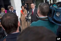 Republican presidential candidate Sen. Ted Cruz, R-Texas, speaks to the media about events in Brussels near the Capitol in Washington, March 22, 2016.
