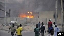 Požar u policijskoj stanici u Kanou, jednoj od meta napada islamističke organizacije Boko Haram