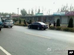 探访者途中被一些车辆跟踪