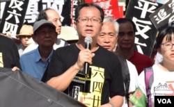 香港支聯會副主席蔡耀昌。(美國之音湯惠芸)