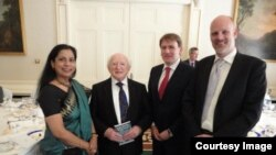 Dr. Nazma Kabir with President of Ireland Michael D Higgins 2012