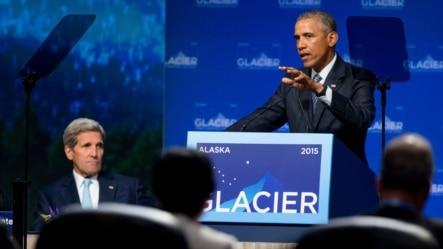 美国总统奥巴马在北极环境问题的峰会上发表讲话(2015年8月31日)