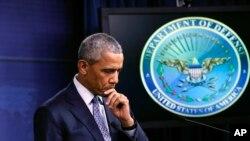 Presiden Amerika Serikat Barack Obama di Pentagon, Washington DC (Foto: dok).