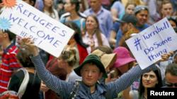 Protestos a favor da aceitação de refugiados na Austrália