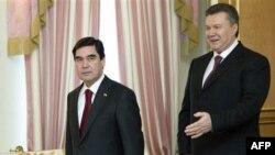 Гурбангулы Бердымухамедов и Виктор Янукович, 13 марта 2012