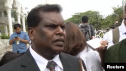 Luật sư người Malaysia Selvam Shanmugam là người được chỉ định bào chữa cho Đoàn Thị Hương.