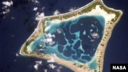 The Atafu atoll is one of three atolls that compromise the territory of Tokelau in the South Pacific.