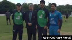 کپتان های تیم ملی افغانستان و آیرلند