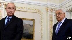 Vladimir Poutine et Mahmoud Abbas le 25 juin 2014.