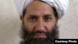 FILE - A photo circulated by the Taliban of new leader Haibatullah Akhundzada.