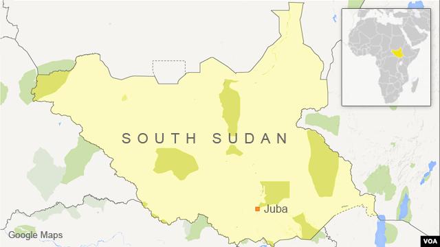 Map of South Sudan