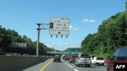 高速公路高峰时段HOV车道