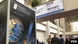 2019年5月6日在华盛顿举行的卫星工业年会吸引了美国军方和业界人士的参与(美国之音黎堡)