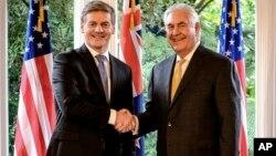 El jefe de la diplomacia estadounidense habló el martes desde Wellington, Nueva Zelanda, donde se reunió con el primer ministro neozelandés, Bill English.