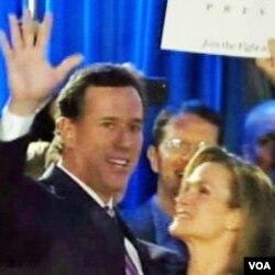 Rick Santorum sa suprugom