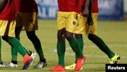 L'équipe tunisienne contre l'équipe guinéenne le 9 octobre 2016 à Monastir, en Tunisie.