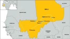 Carte des villes du Mali