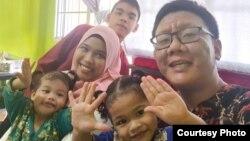 Muhammad Shalehan dan keluarga. (Foto: courtesy)