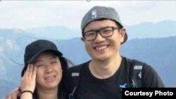 中国游客王毅男和宋洁夫妇(国家公园寻人公告照片)