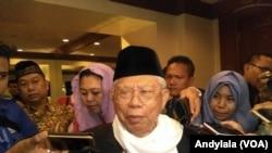 Ketua Majelis Ulama Indonesia Ma'ruf Amin dalam sebuah acara di hotel Crowne, Jakarta, 27 Maret 2017. (Foto: VOA/Andylala)