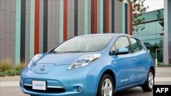 Новый электромобиль фирмы Nissan.