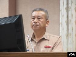 台灣國防部副參謀總長蒲澤春上將(美國之音張永泰拍攝)