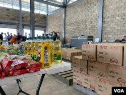 Unas 100 toneladas de alimentos y medicinas ya están en centro de acopio en Cúcuta como parte de la ayuda humanitaria de EE.UU. al pueblo de Venezuela.