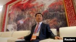 万达集团董事长王健林在青岛,准备参加青岛东方影都的启动典礼(2013年9月22日)