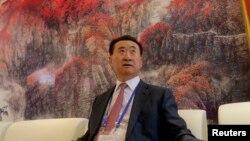 中国首富、万达集团董事长王健林2013年9月在青岛。