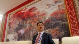 Wang Jianlin, chairman of Chinese property developer Dalian Wanda Group, sits in a meeting room as he arrives for the launch ceremony for the Qingdao Oriental Movie Metropolis on the outskirts of Qingdao September 22, 2013.