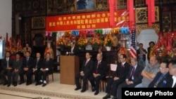 2013年撤旗后中国驻旧金山总领事一行拜会总会馆(诉讼案呈堂照片)
