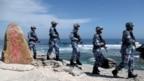 Hải quân Giải phóng quân Trung Quốc tuần tra trên đảo Phú Lâm thuộc quần đảo Hoàng Sa