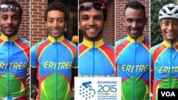 Eritrean Cyclists in Richmond