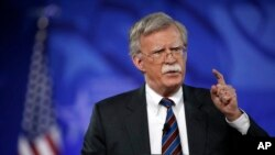 FILE - Former U.S. Ambassador to the U.N. John Bolton speaks at the Conservative Political Action Conference in Oxon Hill, Maryland, Feb. 24, 2017.