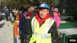 陳明 華人選民協會成員 (攝影﹕美國之音宋德成)