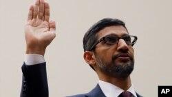 Izvršni direktor kompanije Google Sundar Pichai svjedoči u Kongresu, 11. decembar 2018.