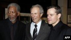 از راست: مت دیمون، کلینت ایستوود، مورگن فریمن