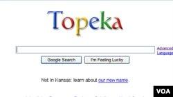 Google intercambió nombres con la capital de Kansas, Estados Unidos.