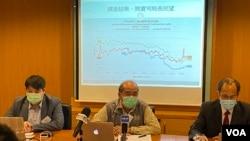 香港民意研究所名譽總監鍾劍華表示,林鄭月娥的民望回升, 主要是相較於其他國家疫情災難性爆發,香港的情況不算太差。(美國之音湯惠芸)