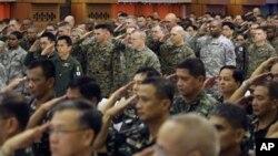 美國和菲律賓的軍人聯合進行演練。(資料圖片)