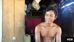 Pa Tou, a 37-year-old rice farmer and resident of Srekor village, says the proposed resettlement site will leave all of the villagers far worse off, Cambodia. (R. Carmichael/VOA)