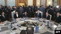 Заседание Совета глав правительств государств-членов Шанхайской организации сотрудничества (ШОС) в Душанбе.