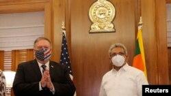 Ngoại trưởng Mike Pompeo và Tổng thống Sri Lanka Gotabaya Rajapaksa hôm 28/10.