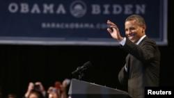 Presiden Amerika Barack Obama dalam salah satu kampanyenya di Oregon, Portland, (24/7). Partai Demokrat Amerika telah menyatakan siap untuk memasukkan perkawinan sesama jenis dalam program kampanye partai secara resmi untuk pertama kalinya.