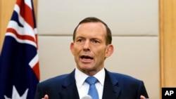 澳大利亞總理阿博特 (資料照片)
