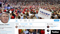 Akun Twitter Presiden AS Donald Trump