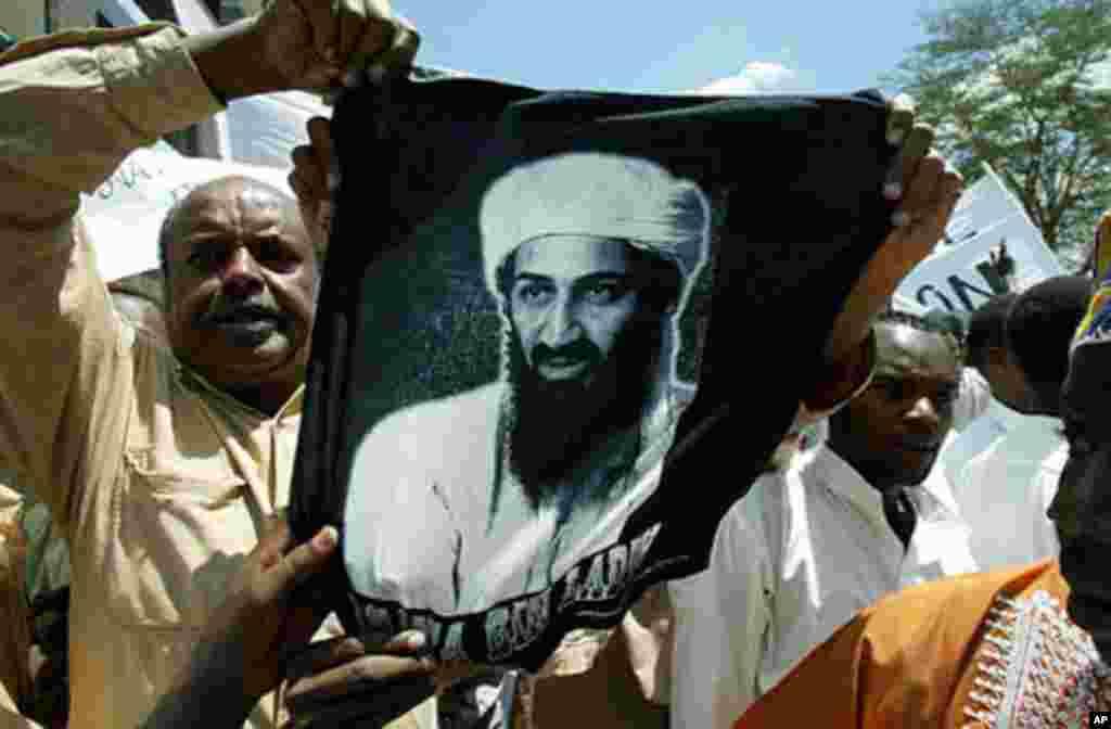 미국의 이라크 침공을 비난하는 케냐 나이로비의 시위대 (2003년)