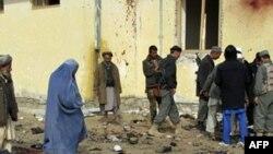 Poprište nedavnog samoubilačkog napada u Emam Sahebu u provinciji Kunduz.