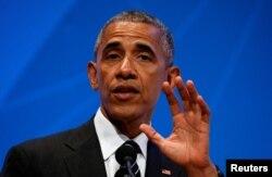 Tổng thống Mỹ Barack Obama nói về Brexit tại trường đại học Stanford, bang California, ngày 24/6/2016.